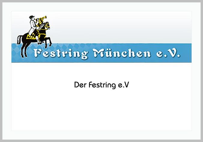 Bildtafel mit Logo des Festring München e.V. und Hinweistext