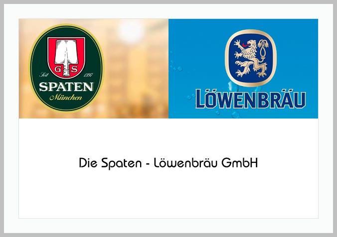 Bildtafel mit Logo der Spaten-Löwenbräu GmbH und Hinweistext