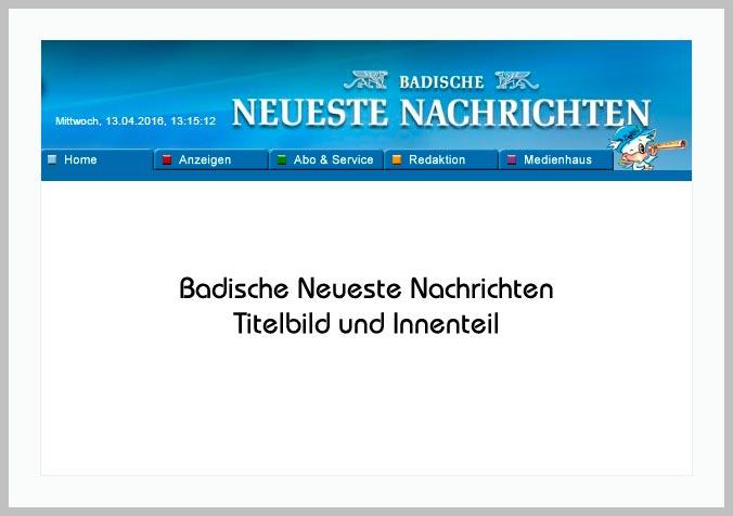 Bildtafel mit Logo der BNN und Hinweistext