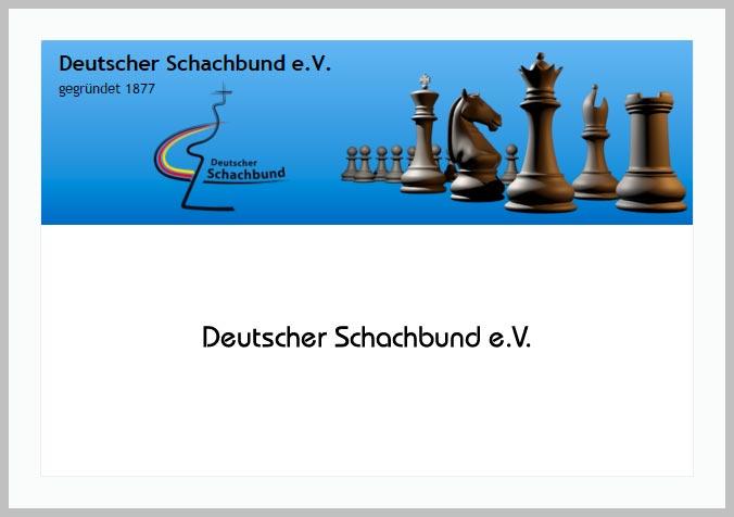 Bildtafel mit Logo des Deutschen Schachbund und Hinweistext