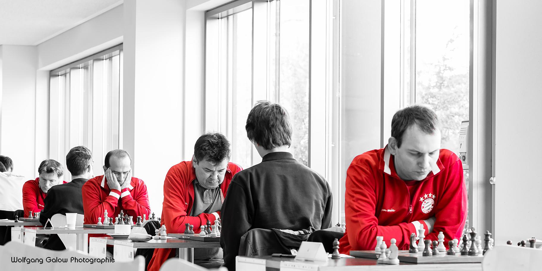 Die ersten vier Bretter der Bundesligamannschaft des FC Bayern München