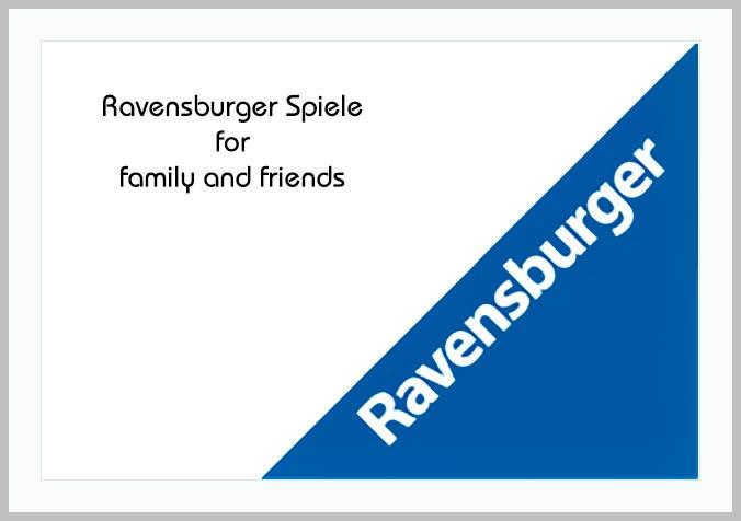 Bildtafel mit Logo von Ravensburger und Hinweistext